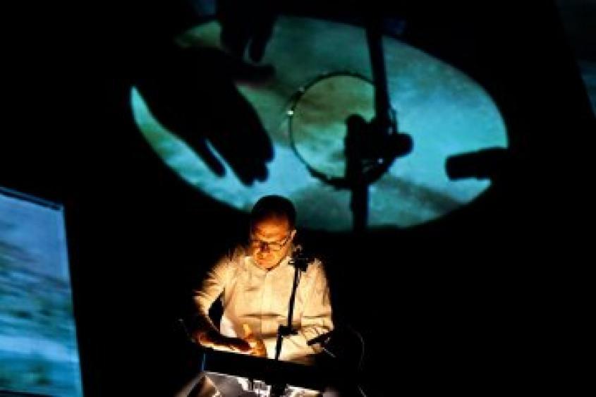 Steven Schick (foto: Matthew Murphy @ Miller Theatre)